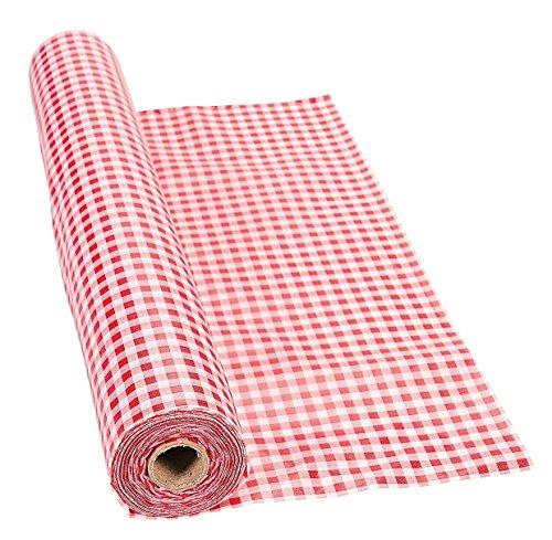Unbekannt 100'X 101,6cm rot gingham Tischdecke Rolle–Party Geschirr & Tisch Bezügen