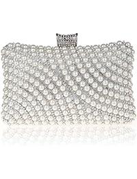 KAXIDY Sac a Main de Soiree Pochette Soirée de Mariage Perles d'imitation Sacs Pochette pour Femme