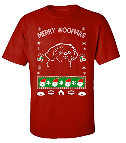 Gifts For Shih Tzu Ugly Christmas Sweater Style - Adult Shirt -