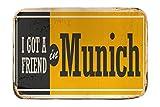 LEotiE SINCE 2004 Fuß Hunde Matte Bett Retro München Deutschland Bedruckt 40x60 cm