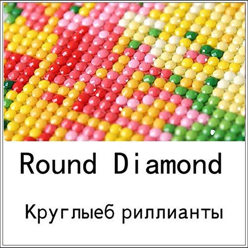 ZYME Oldtimer, Diamant-Stickerei, 5D, voller Diamant Malerei, Nähen, Kreuzstich, Strass, DIY, Handwerk, Dekoration, Geschenk 30x25cm Round Diamond