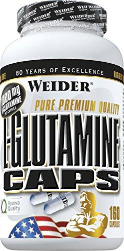 Weider, L-Glutamine Caps, 1er Pack (1 x 160 Kapseln)