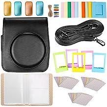 Neewer 25-en-1 Kit de Accesorios para Fujifilm Instax Mini 70: 1 Caja de Cámara Negro/ 1 Álbum Azul/ 4 Filtros de Colores/ 5 Marcos de Mesa de Cine/ 10 Marcos de Pared / 3 Pack (30 Piezas) Etiquetas de Frontera / 1 Correa de Hombro