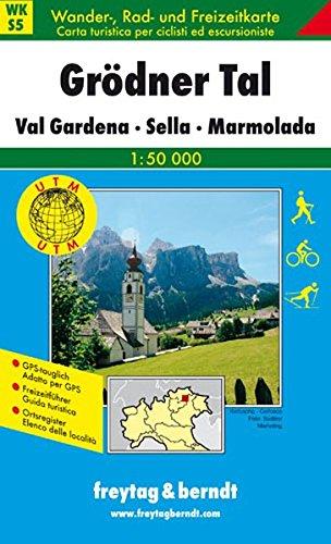 Preisvergleich Produktbild Freytag Berndt Wanderkarten, WKS 5, Grödner Tal - Val Gardena - Sella - Marmolada - Maßstab 1:50 000