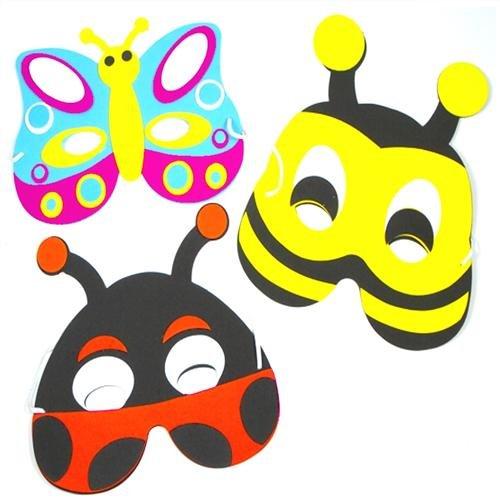 Unbekannt Soft Foam Insect Masks, 6Supplied of 3Designs (Maske/Maske)