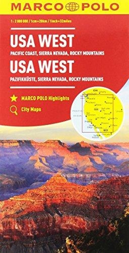 Stati Uniti occidentali, costa del Pacifico 1:2.000.000