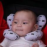 Kakiblin Autonomie bébé Taie d'oreiller pour tête et cou support Taie d'oreiller pour poussette, siège auto, Voyage