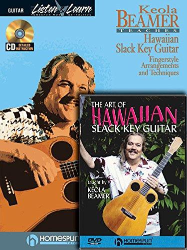 Slack Key Hawaiian Guitar Pack: Hawaiian Slack Key Guitar (Book/CD Pack) with the Art of Hawaiian Slack Key Guitar (DVD) -