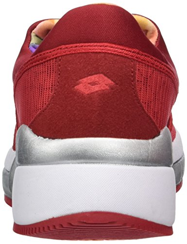 Lotto Iris Lf Amf W, Chaussures de Running Entrainement Femme Rouge (Red Fl/Red Rsp)