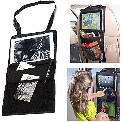 Yacool® asiento trasero del coche y del coche Organizador para guardar objetos y asiento trasero multi del bolsillo del almacenaje del recorrido con la pantalla táctil del iPad Holder, debe tener accesorios de viaje bebé y niños de almacenamiento de juguete