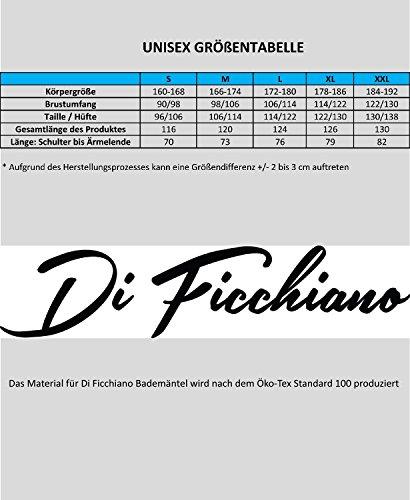 Di Ficchiano Herren Bademantel / Saunamantel BAROLO Blau