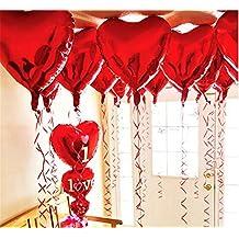 Palloncini di Elio a forma di cuore, della marca ximkee, 10pezzi