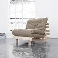 KARUP - ROOTS 90 CM, divano, una chaise longue e un letto, futon ecrù su legno naturale