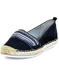 Mujeres Zapatos llanos azul, (blau-kombi) 011018F4T BLUE
