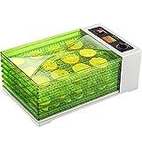 Sancusto - 18L Deshidratador de Alimentos 630W, 6 bandejas, 30°C-68°C, Máquina...