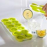 Idea High Creative Pudding-Form mit 12 Zellen, Orange/Zitronenform, weich, 3 Stück, Pink/Blau/Grün