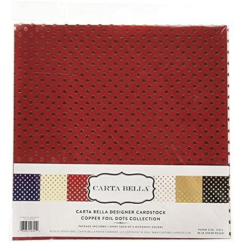 Echo Park Paper Carta Bella Kit de papel para manualidades (30,4x 12-inch-dots y rayas con lámina de cobre