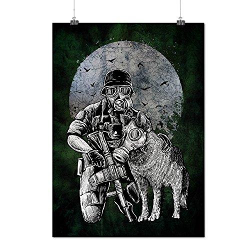 Überleben Hund Giftig Horror Mattes/Glänzende Plakat A3 (42cm x 30cm) | (Kostüm Hund Samurai)