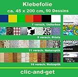 DRULINE Folie Dekorfolie Klebefolie Selbstklebefolie 45 x 200 cm über 50 Design (Nussbaum)
