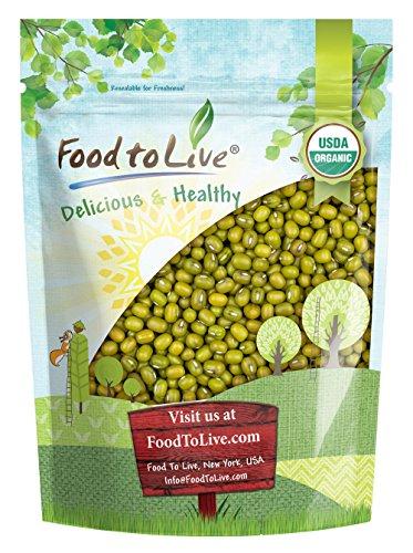 Food to Live Frijoles mung orgánicos certificados (germinados, No OMG, a granel) (8 onzas)