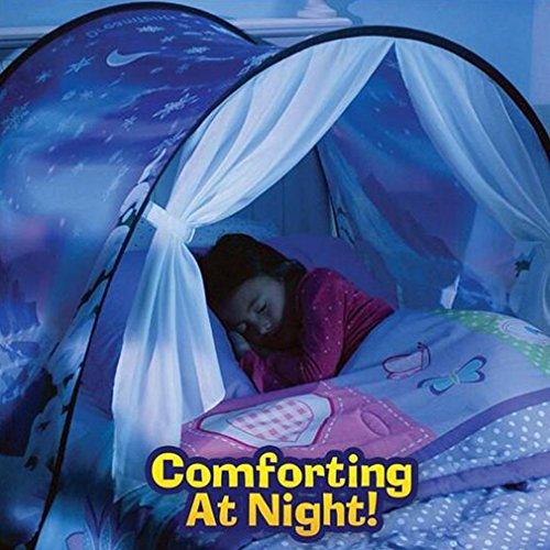 Enfants Tente Tunne Lit Rêve Jouer, Pop up Ciels lit Tent Playhouse Winter Wonderland Tent Enfant Interieur pour Garçon Fille