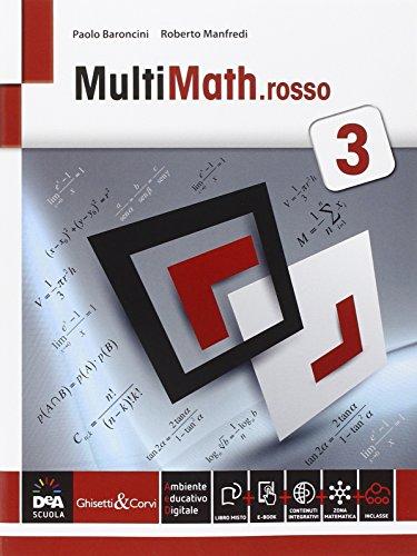Multimath rosso. Per le Scuole superiori. Con e-book. Con espansione online: 3
