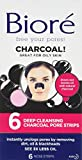 Biore Deep Cleansing Charcoal Pore Strips for Blackhead Removal,  Nose Strips 6 pieces
