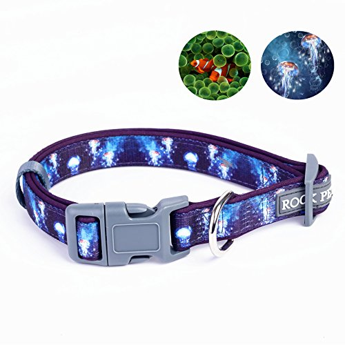 comfy-polyester-dog-collar-nylon-soft-collar-pet-accessories-for-dogs-marine-animals-type-l-blue
