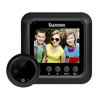 amazingdeal 2,4Zoll-LCD-Kamera Peephole Intelligente Türklingel, Nachtsicht-PIR