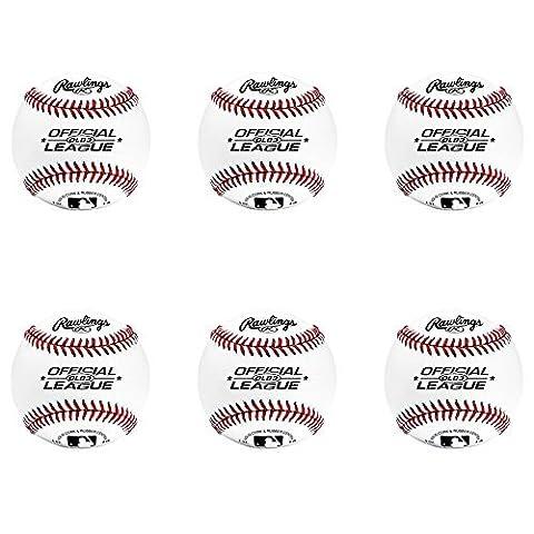Rawlings OLB3 Official League Recreational Play Baseball (Set of 6) by Rawlings