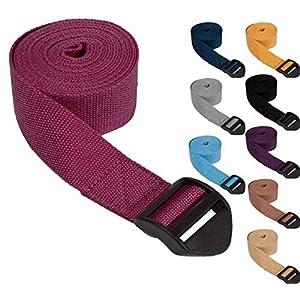 #DoYourYoga Yogagurt »Sadira« / Yoga Gurt 100% Baumwolle mit Verschluss / 280 cm (110″) x 3,8 cm (1,5″) erhätlich