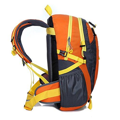 Zaini da escursionismo, Traspirante Spalla Zaino Viaggio Trekking Alpinismo Zaino Unisex Zainetto All'Aperto orange 2