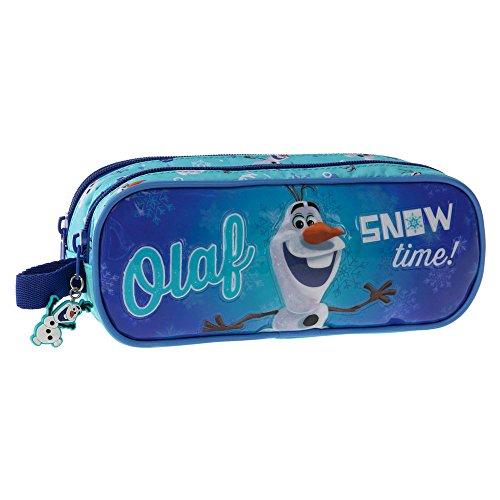 Disney Trousse Deux Compartiments Olaf Snow Vanity, 23 cm, 1.44 L, Bleu