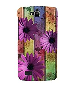 Fiobs Designer Back Case Cover for Huawei Honor Holly (Flowers Floral Pink Love Hibiscus)