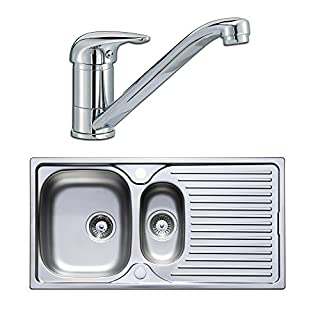 Astracast Quality 1.5 Bowl Stainless Steel Kitchen Sink & Lever Tap Pack by Astracast