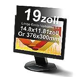 Xianan 19 Zoll Standardbildschirm 5:4 Displayfilter Bildschirmfilter Blickschutzfilter Blickschutzfolie Blickschutz Sichtschutz 14.8 * 11.81zoll/376 * 300mm