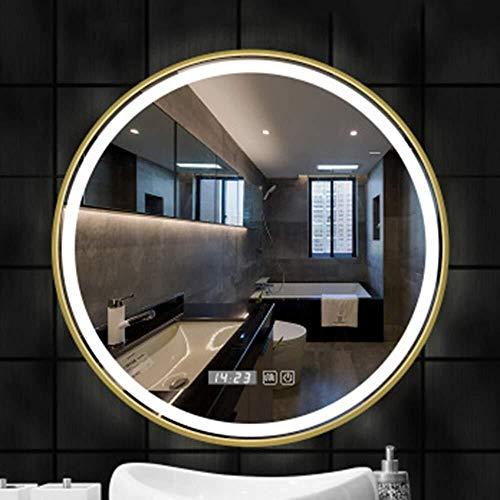 BJYX Hierro Forjado Marco Espejo de baño Espejo Inteligente luz del Espejo de baño Espejo de baño...