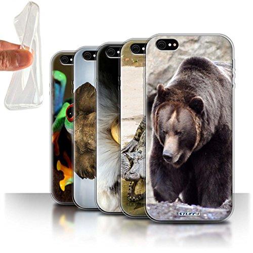 Stuff4 Gel TPU Hülle / Case für Apple iPhone 7 Plus / Frosch Muster / Wilde Tiere Kollektion Multipack (20 Pck)