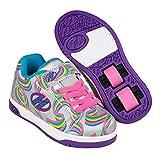 Heelys Unisex-Kinder Fitnessschuhe, Mehrfarbig (Silver/Purple/Rainbow 000), 34 EU