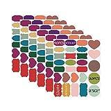 Xstar Etichette adesive per Lavagna Riutilizzabile, autoadesive 168 Etichette adesive Colorate per Lavagna, Adesivi Lavagna Rimovibili, Etichette adesive per Ufficio, casa