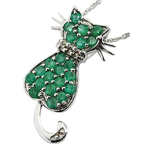 anderson-webb-sterling-silver-cat-pendant-with-emeralds-and-diamonds-free-earrings