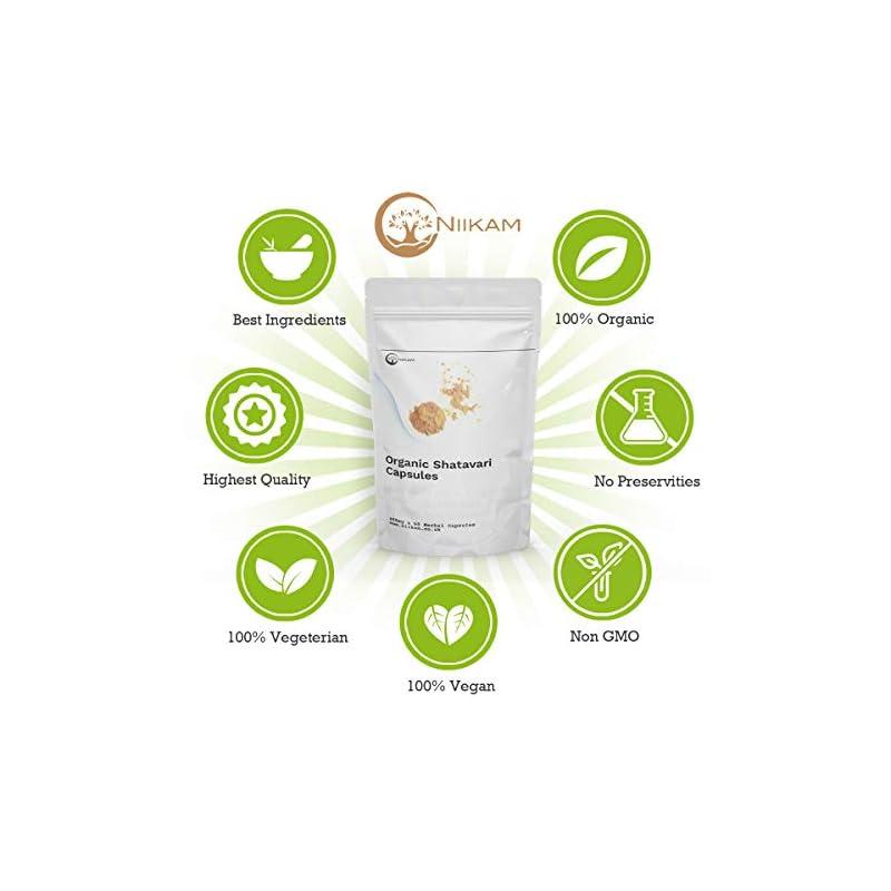 Shatavari Capsules | 60 Vegan Capsules | 100% Natural and Organic | High Potency
