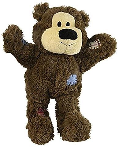 KONG Wild Knots Bear Dog Toy, Medium/Large Colors (Ansia Da Separazione Cane)