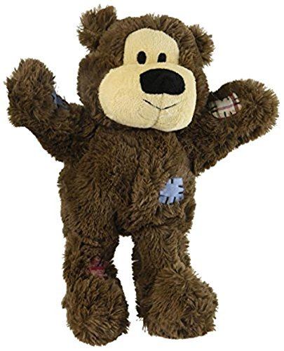 Kong WILD KNOTS BEAR Reinforced Plush Squeaky Dog Tug Toy Medium/Large (Ansia Da Separazione Cane)