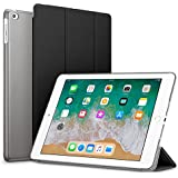 Robustrion Smart Slim Trifold Hard Back Flip Stand Case Cover for New iPad 9.7 inch 2018/2017 6th/5th Generation (Black)