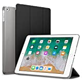 #1: Robustrion Smart Slim Series Trifold Hard Back Flip Stand Case Cover for iPad 9.7 inch (Black)