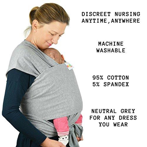 Babytragetuch aus Baumwolle in Premium Qualität | Mehrere Tragepositionen mit diesem weichem und leichtem Tragetuch von Geburt an - 8