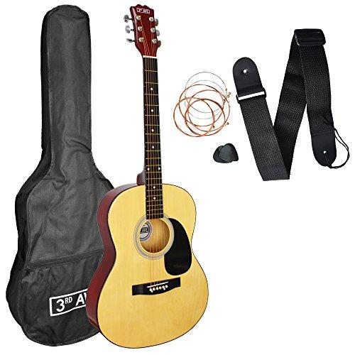 3rd Avenue Acoustic Guitar Beginner Starter Pack - Natural