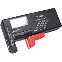 Hapurs - Medidor de voltaje de pilas DK013, para pilas AA, AAA, C, D, 9V, 1,5V, BT-168D, de botón, HPDLL10