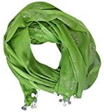 MIXFAB Women's Chiffon Dupatta (Green)